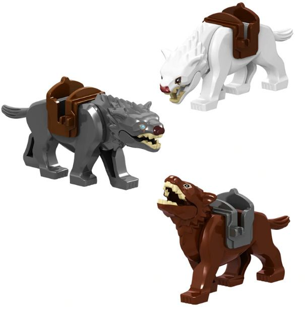 8X Lord of the Rings Warg Wolve Hobbit Fit  big Figure Toy Hyena mammoth