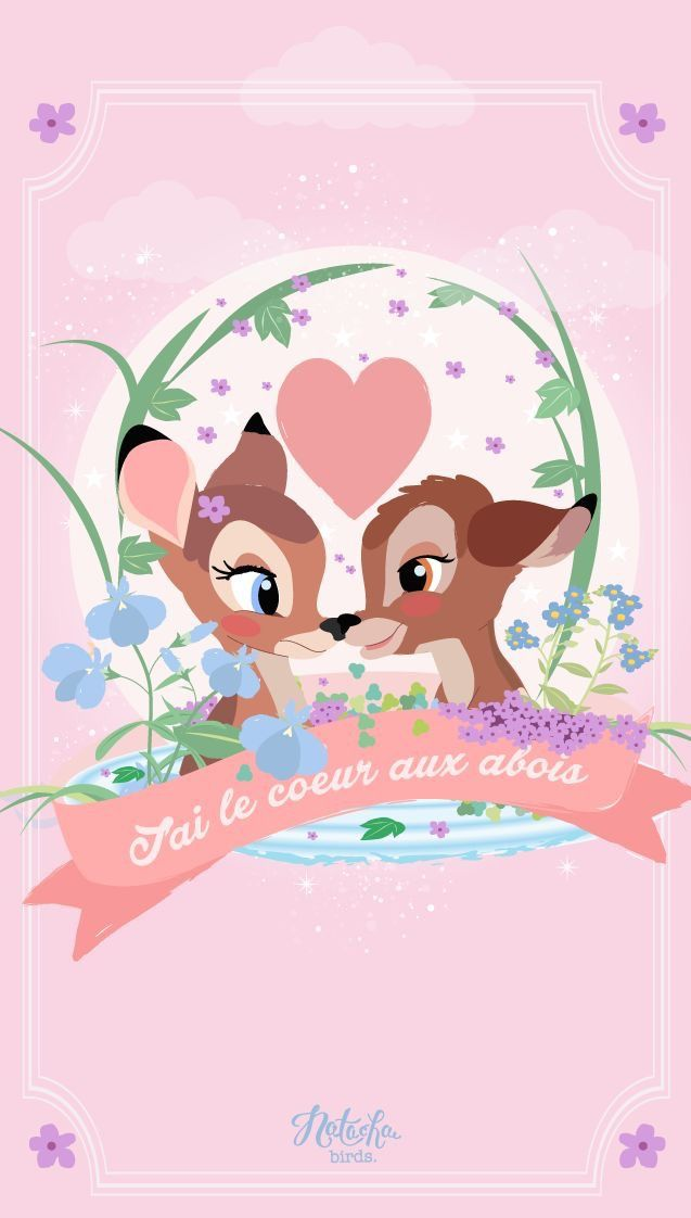 Bambi Pink Disney Wallpaper iPhone Theme