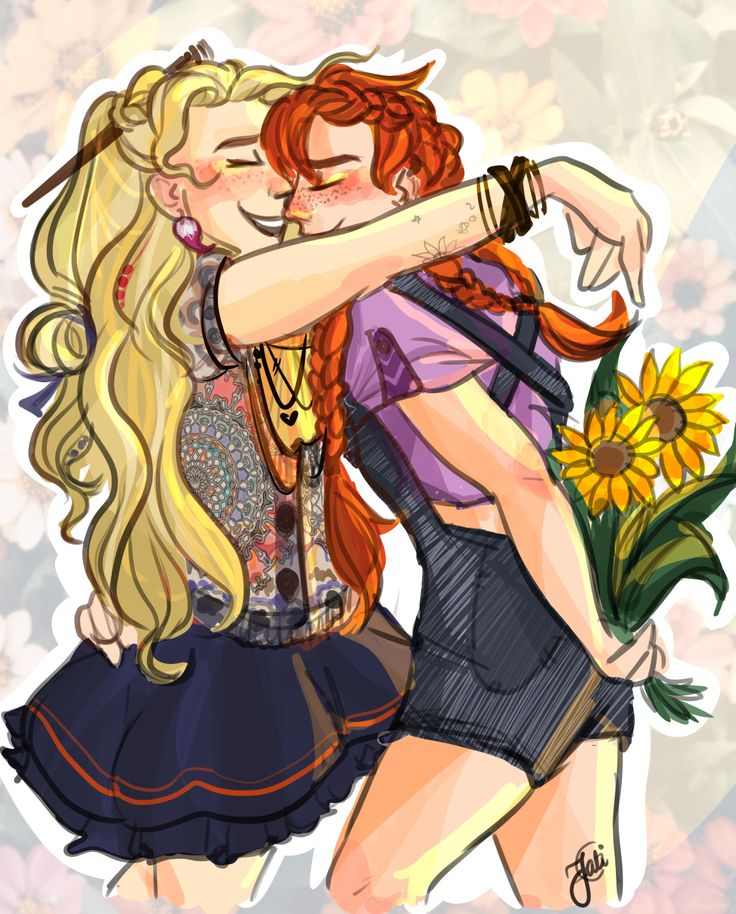 Best friends Luna and Ginny