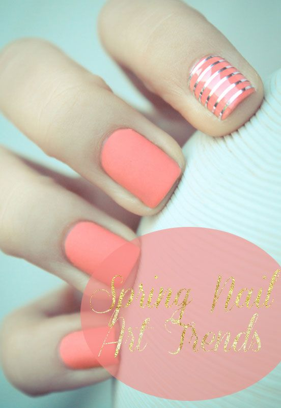 Spring Nail Art & Cocktail Ring Pairings - 25+ Trending Peach Nail Art Ideas On Pinterest Coral Nails