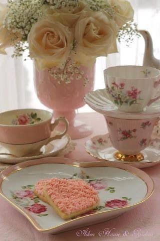: Teas Time, Teas Cups, Aiken House, High Teas, Afternoon Tea, House Gardens, Pink Teas, Teas Parties, Teacup
