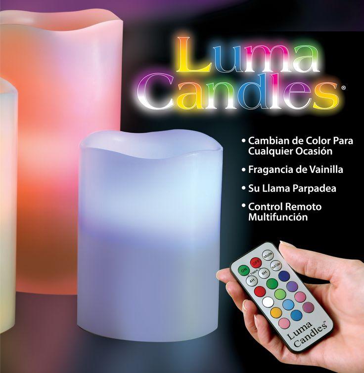 LUMA CANDLES  ¡Las velas con luz LED que cambian de color y no se derriten!  Luma Candles es un kit de 3 velas de cera parafinada que cambian de color y ambientan sus lugares favoritos. ¡Cómprela ahora! (+57) 3176404688