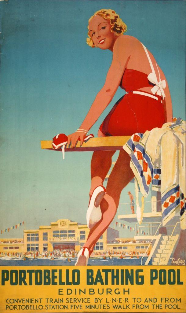 portobello beach edinburgh poster