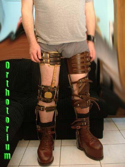 polio leg brace adult