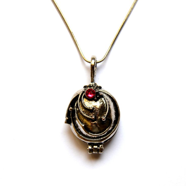 Vampire Diaries Elena Necklace / Locket Pendant / Silver Jewelry / Talisman / With free giftbag by MagiqueChic on Etsy