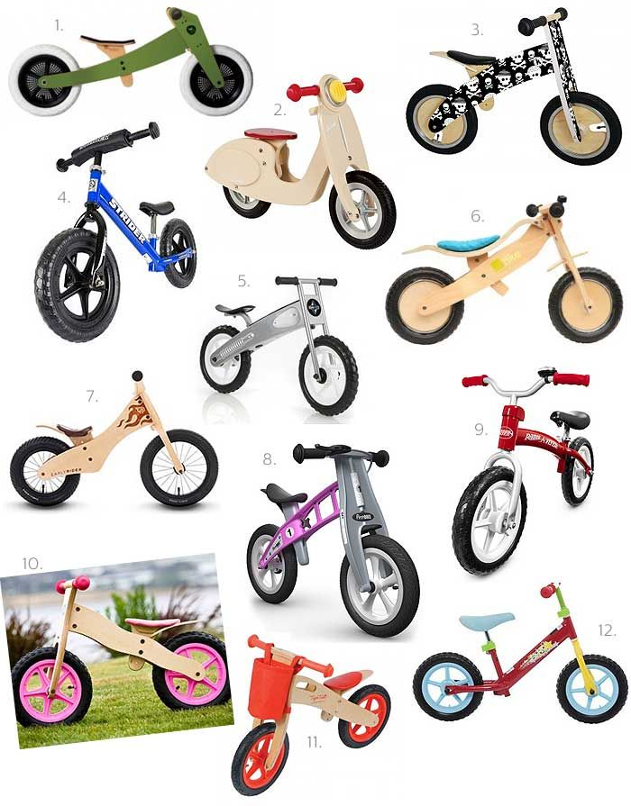 1. Wishbone 3in1 Bike – Little Logic Life $279.00 | 2. Janod Vanilla Scooter Balance Bike – Entropy $169.00 | 3. Kiddimoto Balance Bike – Happy Little Hippos $110.00 | 4. Balance Bike – Strider $169.00 $139.00 | 5. Eurotrike Glide Balance Bike – Toy Galaxy $89.00 | 6. Tike Bike – Design Child $220.00 |