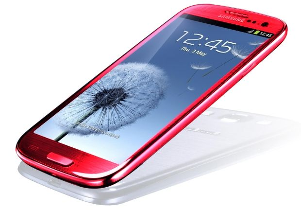 The Samsung Galaxy S3 will be available in scarlet in the US.