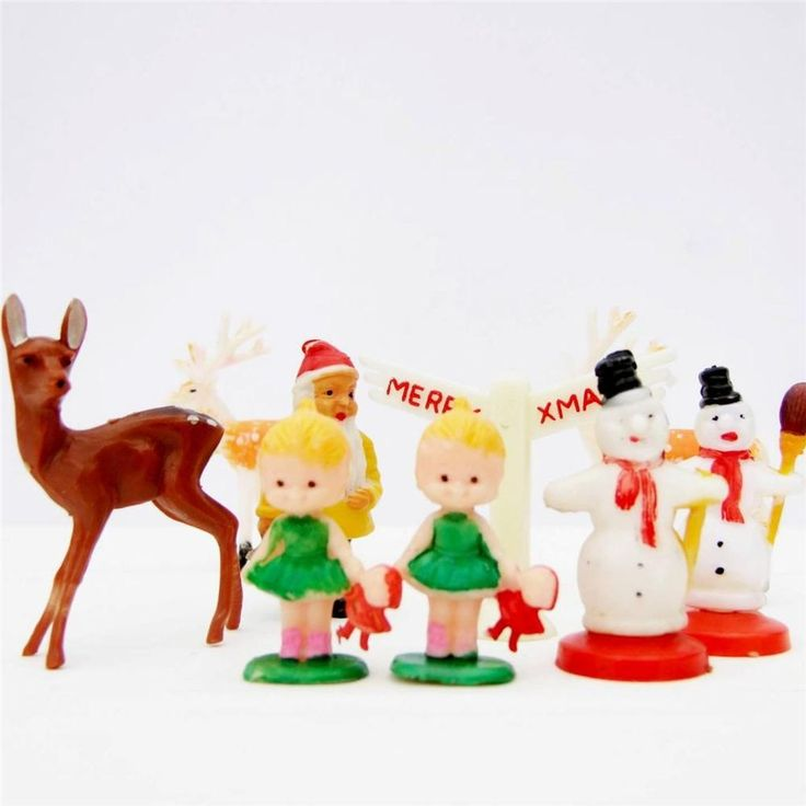 Kitsch Christmas Cake Toppers