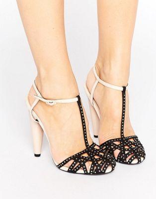 Achetez Little Mistress - Chaussures à talons effet cage ornementé avec bride  de cheville sur ASOS. Découvrez la mode en ligne.