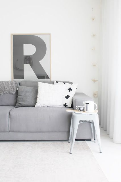 grijstinten in woonkamer