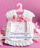 Recuerdo para baby shower Portarretrato Vestido Rosa