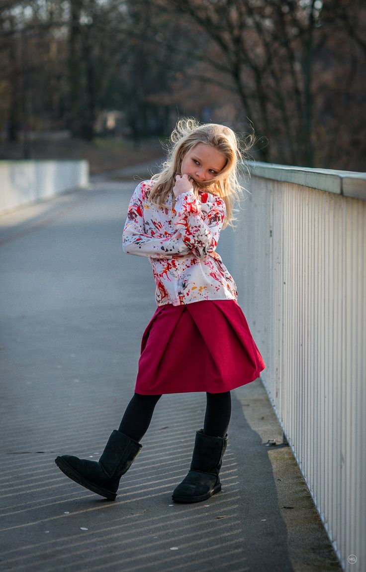 Amelie is wearing 'Nynette' silk blouse and 'Rose' velvety skirt... www.ameliesophie.com