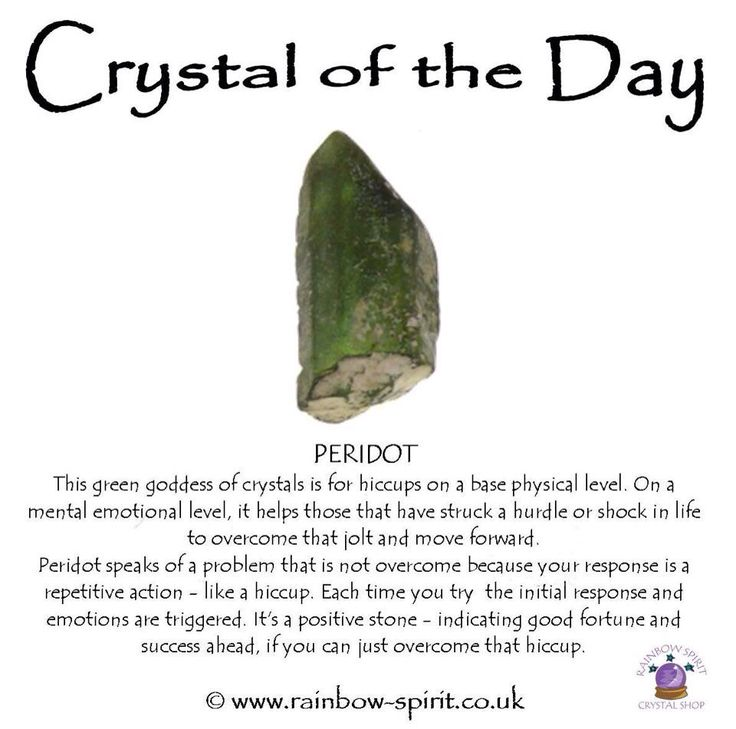 Crystal healing properties of Peridot