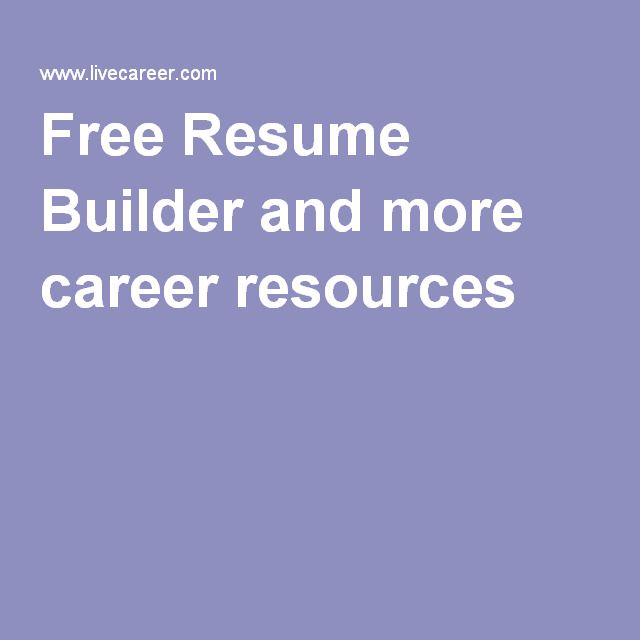 Best 25+ Free resume builder ideas on Pinterest Resume builder - livecareer review