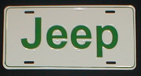 Jeep license Plate Green