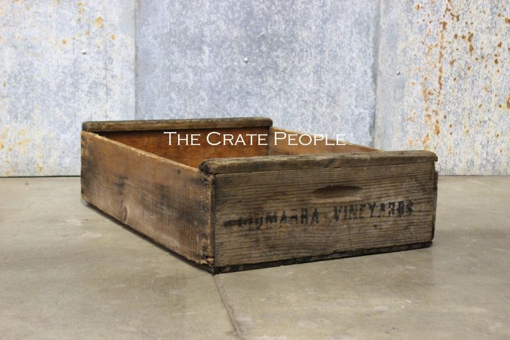 Vintage Wood Crates - Short Grape Crate - Hundreds of RUSTIC Crates Available by TheCratePeople on Etsy https://www.etsy.com/listing/158423285/vintage-wood-crates-short-grape-crate