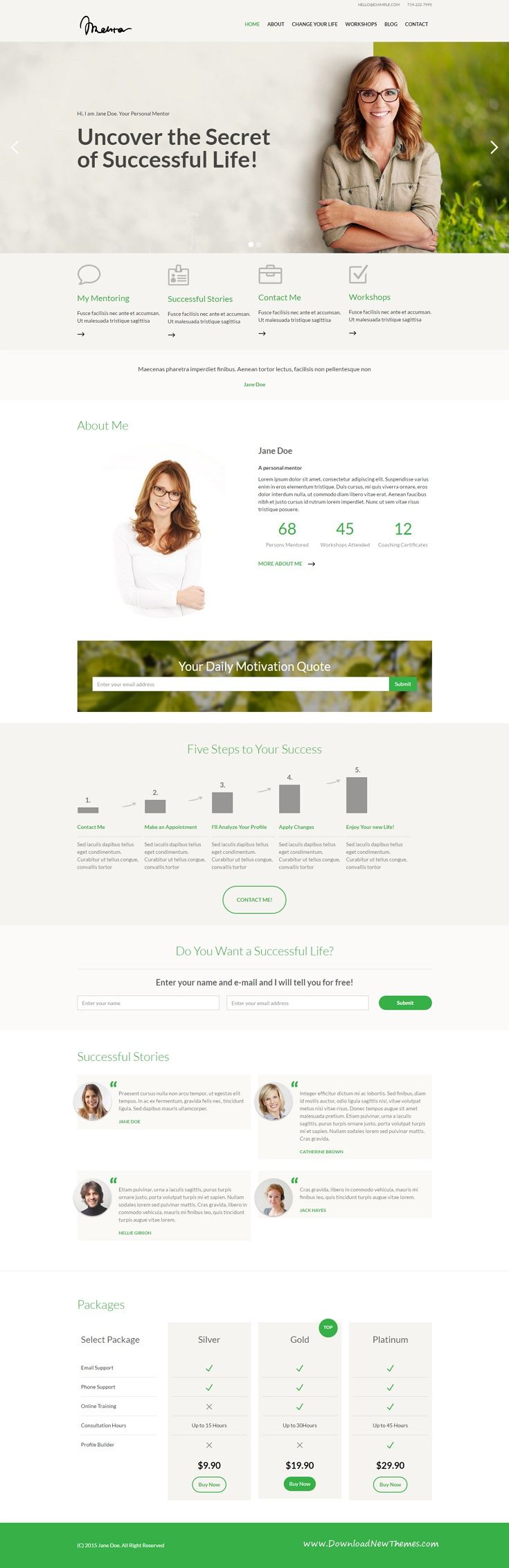 Mentor is beautiful #Webflow template mainly suitable for mentors who offer personal development. But in can also be easily used for #coaches, #trainers, #therapist or other profession who needs a personal #website.