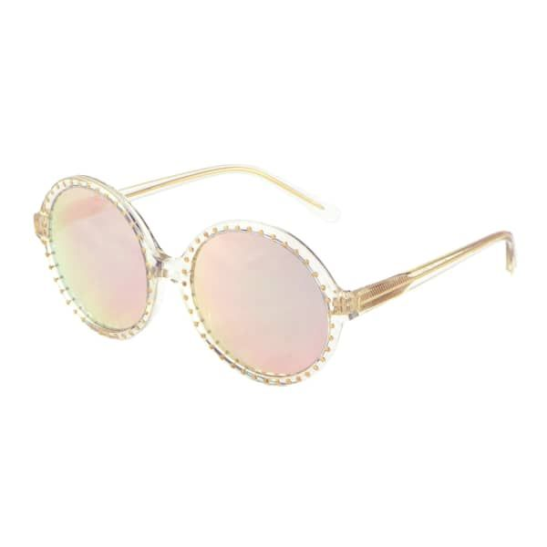 Rose Gold Mirrored Studded Sunglasses | Heidi London | Wolf & Badger