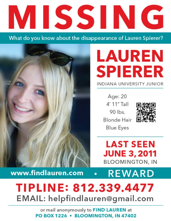 Missing Lauren Spierer - 2011 Missing Persons Please Repin One Or Two Of The Missing Person Pins To Your Boards To Help Find There Familys http://multicityworldtravel.com