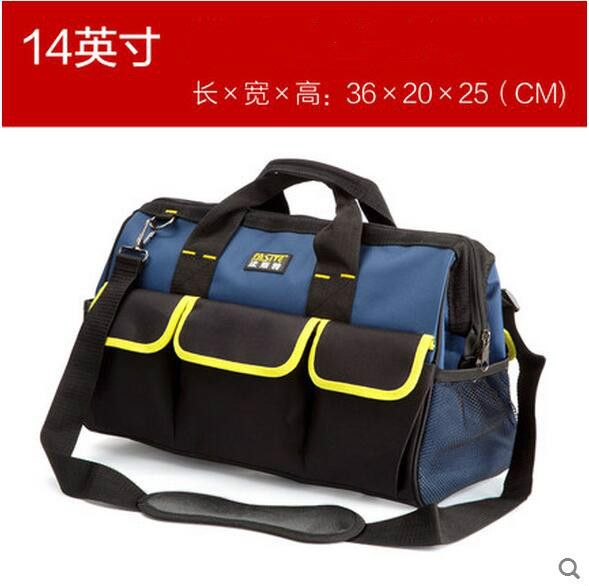 FASITE Tool Combo Bag WAIST BELT Organizer Professional Electricians Tool Pouch Red Tool Bag Blue
