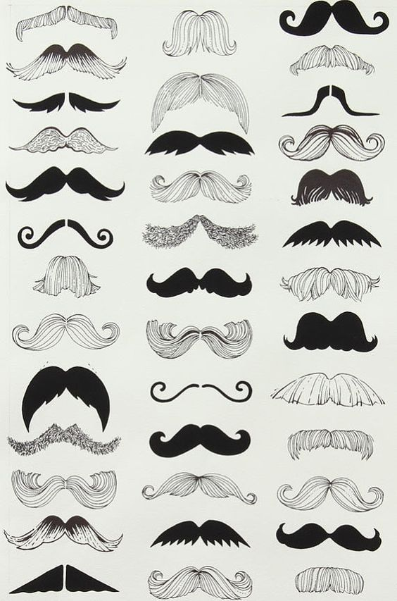 Alexander Henry where's my 'stache by SewPerfectlyVintage on Etsy, $10.50: