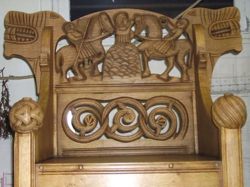 Throne Of Lu0027Eveque Norwegian   KATAROS Sculptor. Fantasy IllustrationWood  CarvingArticle HtmlScandinavian
