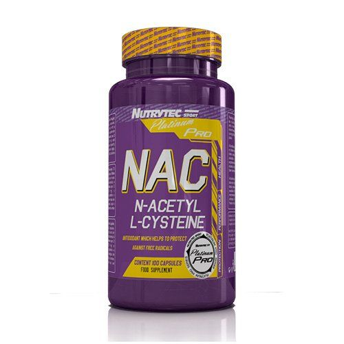 NUTRYTEC Platinum Complément pour Sportif N-acétyle Cisteine 100 Capsules 0,05 kg: Antioxydant inhibe la fatigue musculaire augmente les…