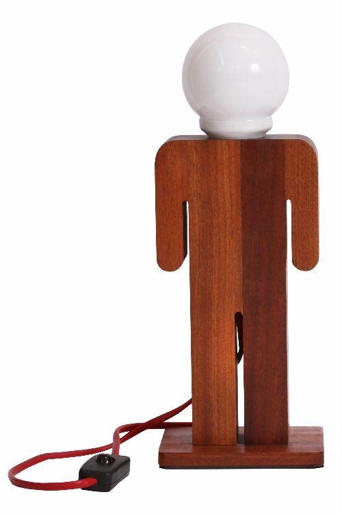 Lámpara de Sobremesa Paire Hombre vía Puraluz  www.puraluz.cl