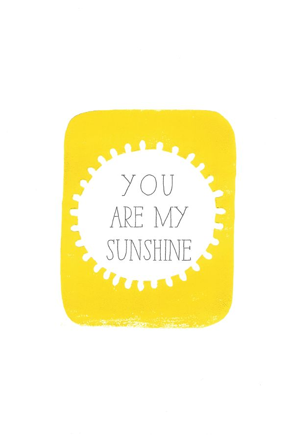 You Are My Sunshine lino print by lynn costello erskine on artclick.ie