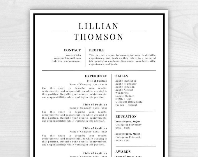 9 best Monogram Resume Templates images on Pinterest Resume - instant resume builder