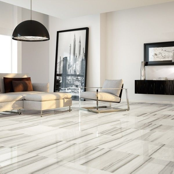 Zebrino White And Gray Porcelain Tile Floor Great Spaces