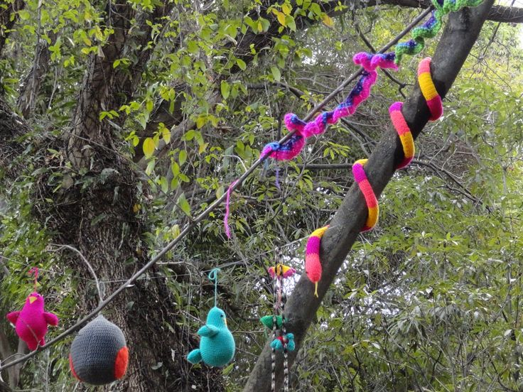 Knitting Trees Art : Best knitted trees images on pinterest crochet art