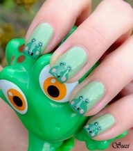 137 best frog nails images on pinterest nail nail enamels and frog nail art tutorial beauty by suzi nail art design prinsesfo Choice Image
