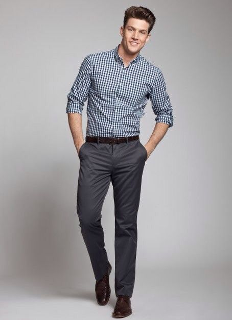 Match color dress code pants and shirt