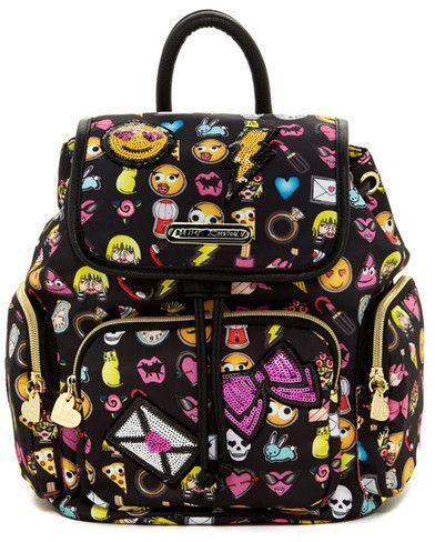 Betsey Johnson Betsey Con Emoji Backpack
