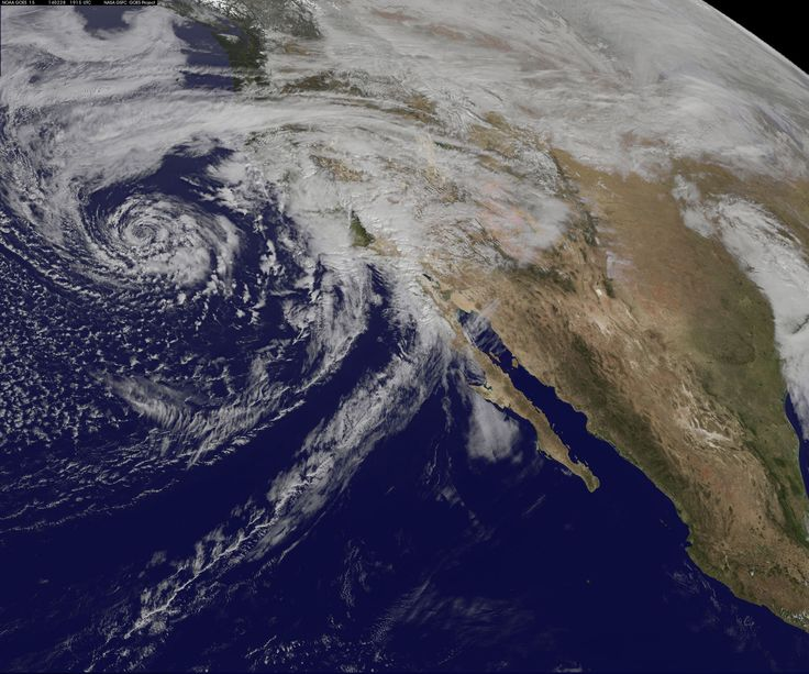 https://flic.kr/p/kyFmeu | GOES-West Satellite Eyes Soggy Storm Approaching California | A swirling Eastern Pacific Ocean storm system headed for California was spotted by NOAA's GOES-West satellite on February 28. According to the National Weather Service, this storm system has the potential to bring heavy rainfall to the drought-stricken state.  The storm was captured using visible data from NOAA's GOES-West or GOES-15 satellite on Feb. 28 at 1915 UTC/11:15 a.m. PST was made into an image…