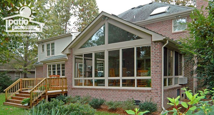 Sandstone Aluminum Frame All Season Room with Gable Roof. Great day improvements.
