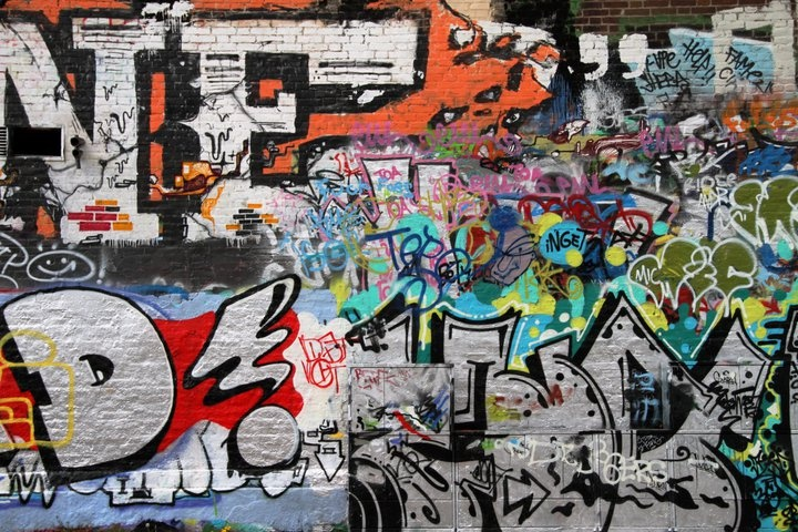 A wall I took a picture of in Gothenburg (Graffittihuset)
