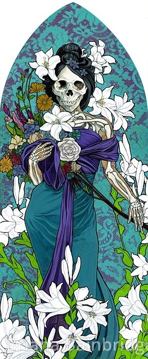 ☆ Santa Muerte as an Allegory of Spring :¦: By Artist Briana Bainbridge ☆