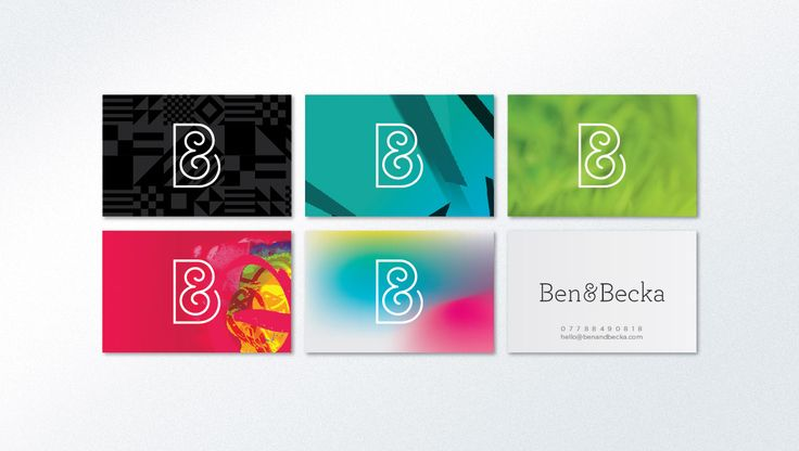 Ben & Becka Online Shop. Business Cards. Designed by White is Black.