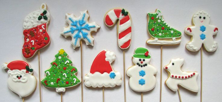 christmas cookies on the stick