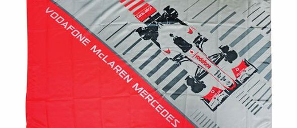 McLaren Vodafone McLaren Mercedes 2013 Flag Formula One Fan Supporters F1  Show support at all races with this team flag, featuring the Vodaphone McLaren Mercedes lettering and a large motif to the centre together with a 100% polyester (Barcode EAN = 5060082118692) http://www.comparestoreprices.co.uk/formula-1-merchandise/mclaren-vodafone-mclaren-mercedes-2013-flag-formula-one-fan-supporters-f1.asp