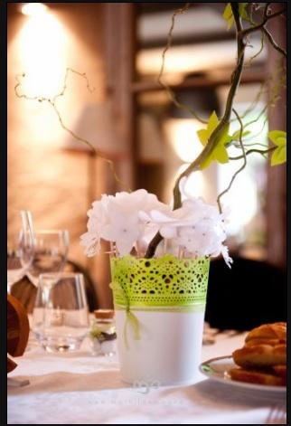Centre de table - Fleur en papiers    Photo : ©MathildeMagne  Création : ©Deelina