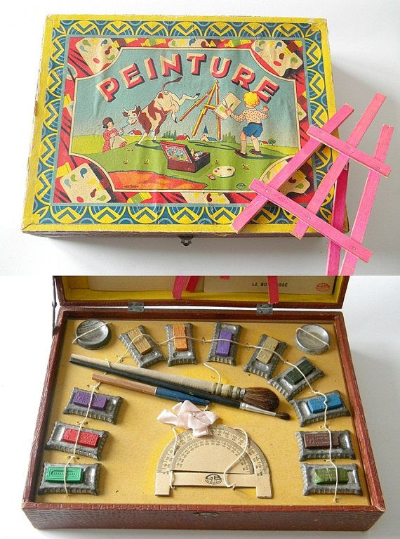 french paint box vintage box''''''