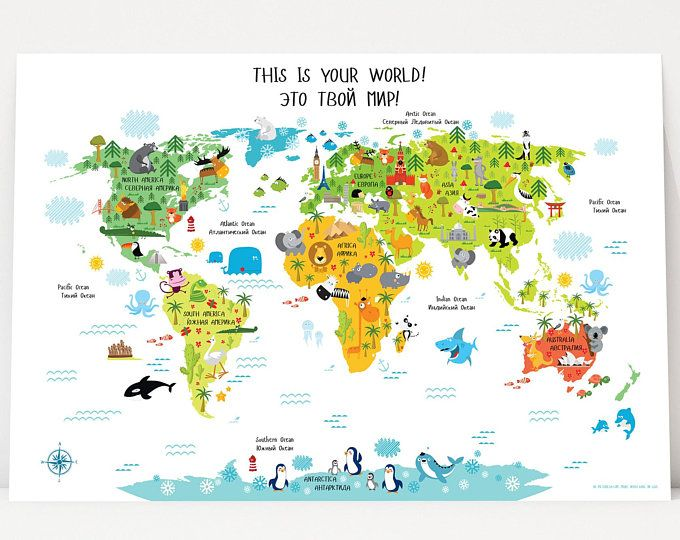 World Map For Kids Nursery Decor Instant Download High Res Etsy Vinilos Para Habitaciones Sala De Juegos Para Ninos Dormitorios Ninos