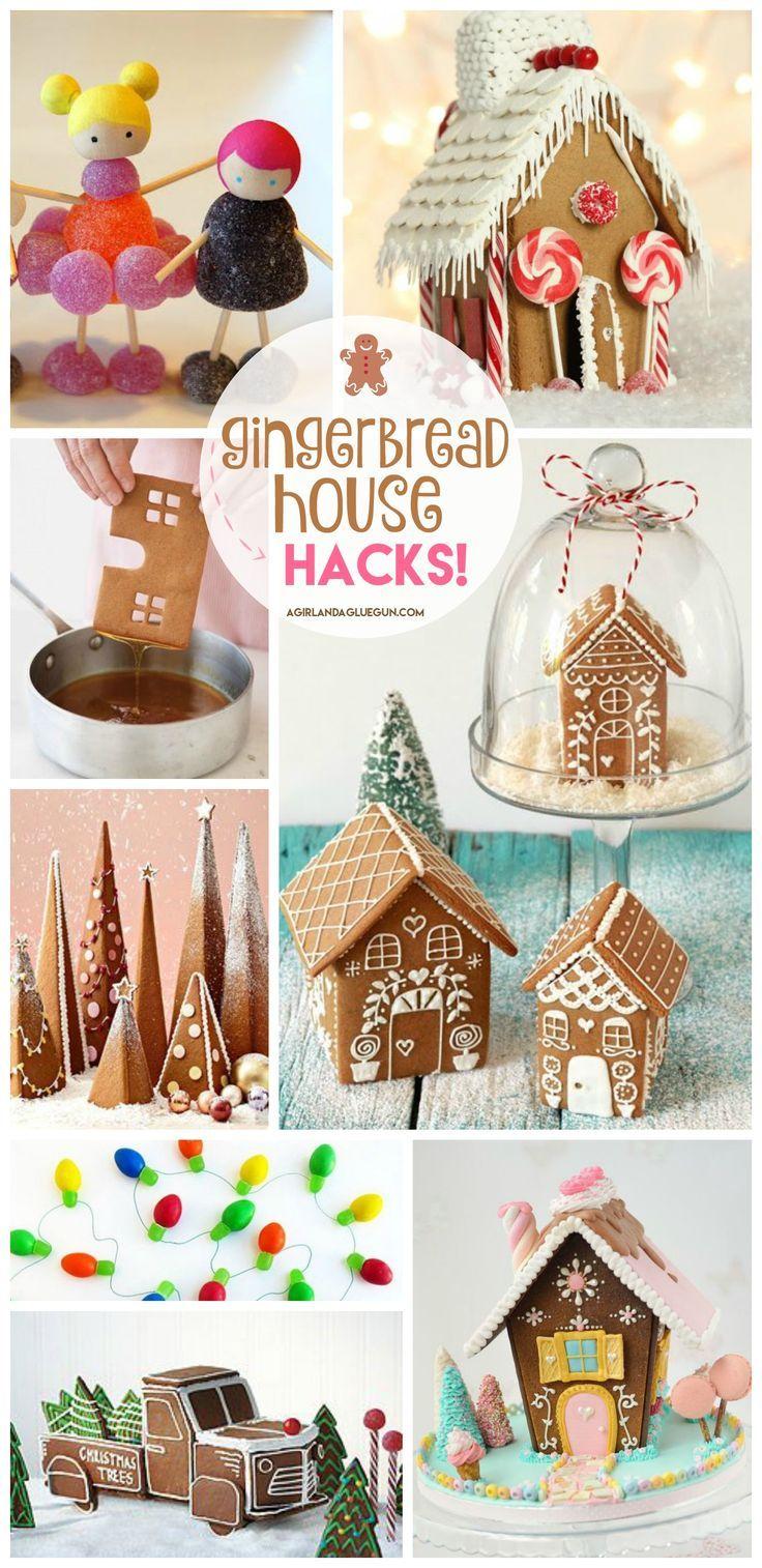 Gingerbread house hacks! - A girl and a glue gun #gingerbreadhouse #christmas