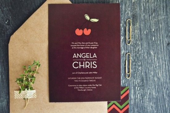 Oh So Beautiful Paper: Fresh Love Wedding Invitations from Yours Is The Earth