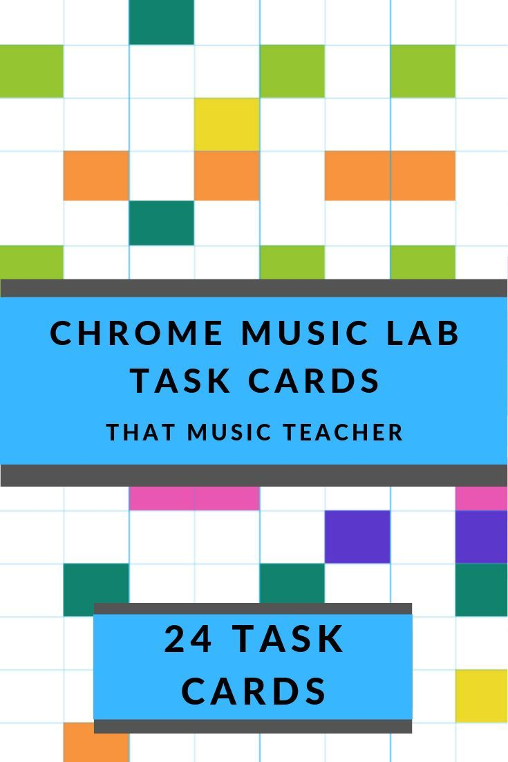 Chrome Music Lab Electronic Music Task Cards Elementary Music Lessons General Music Classroom Music Centers Elementary [ 1102 x 735 Pixel ]