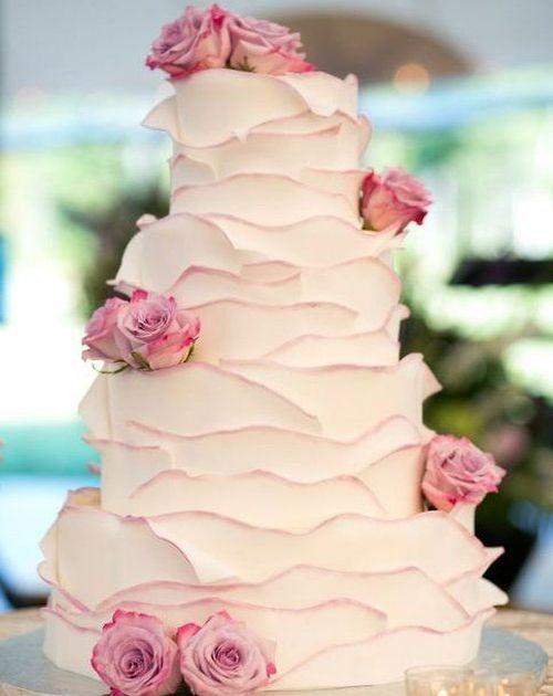 Wonderful Floral Wedding Cake Design