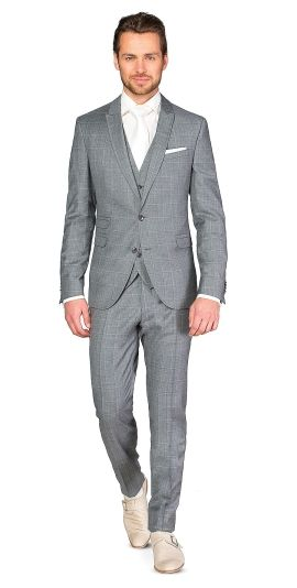 Kostuum 3-delig drykorn 111710-03-a-p-lancaster 03 drykorn grijze ruit   ROKA